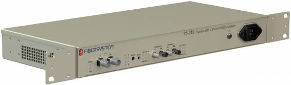 Fiber optic IEEE C37.94-G.703 E1 multiplexer