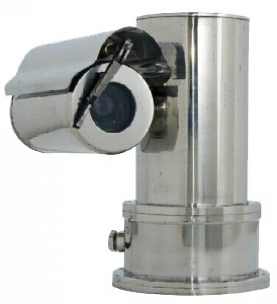 EXPLOSION-PROOF; HAZARDOUS AREA CCTV PTZ CAMERA STATION WITH INTEGRATED OPTICS PACKAGE (IOP) - STAINLESS STEEL